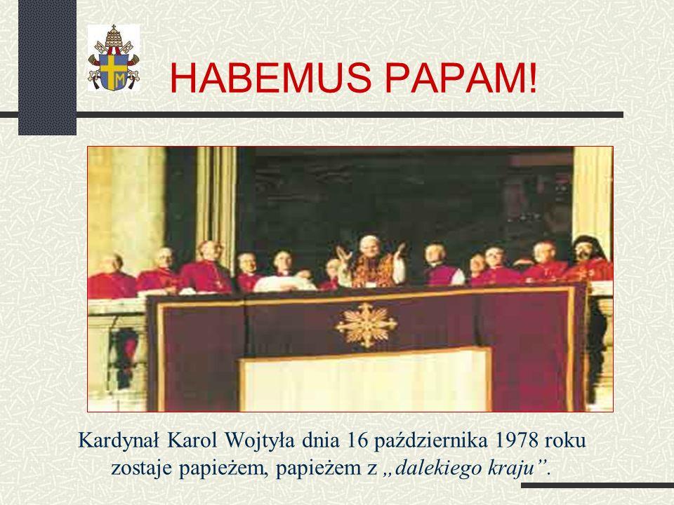 HABEMUS PAPAM! Kardynał Karol Wojtyła dnia 16 października 1978 roku