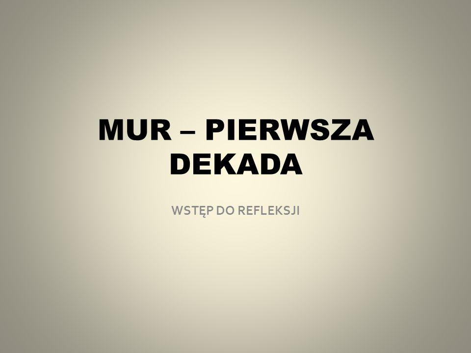 MUR – PIERWSZA DEKADA WSTĘP DO REFLEKSJI