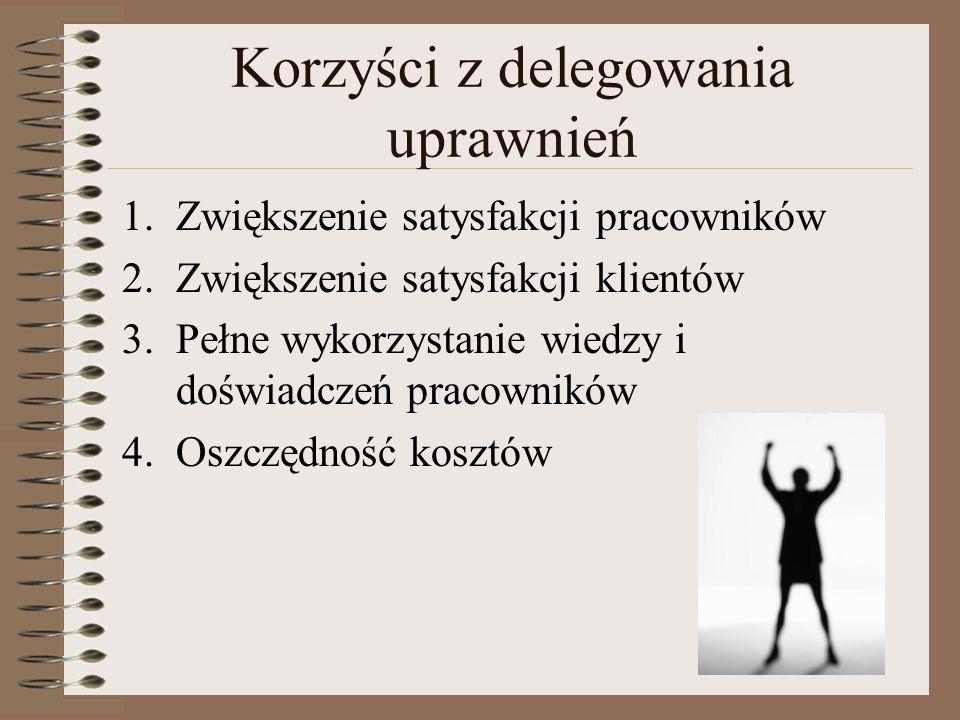 Korzyści z delegowania uprawnień