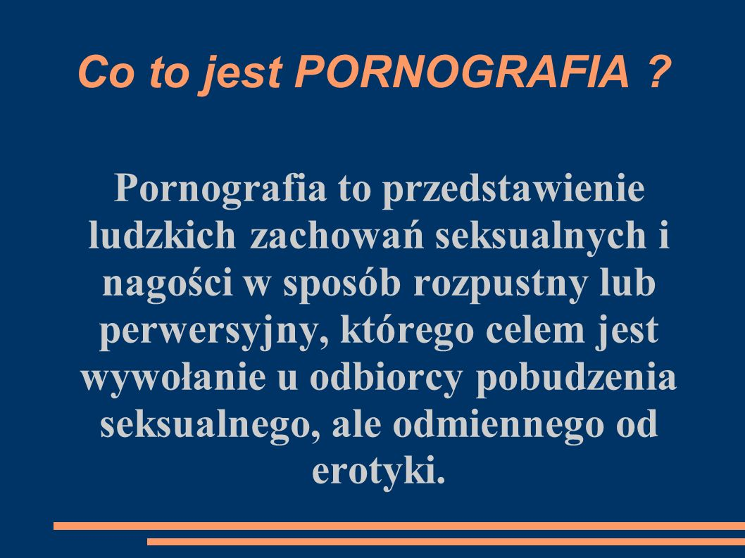 Co to jest PORNOGRAFIA