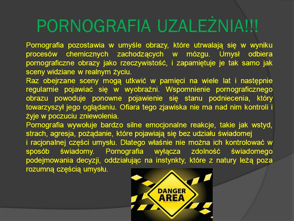PORNOGRAFIA UZALEŻNIA!!!