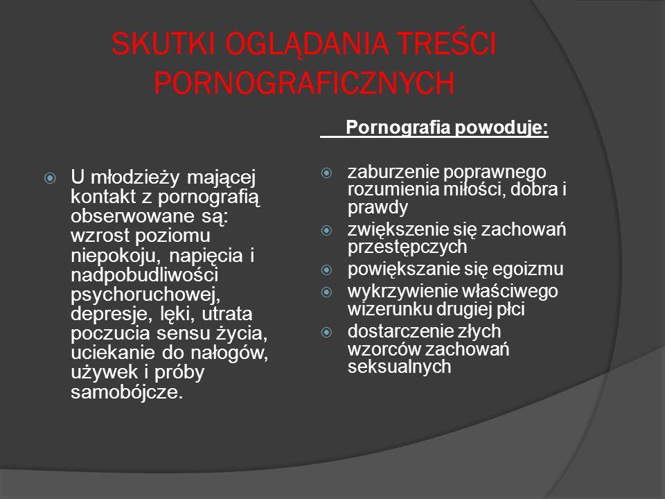 SKUTKI OGLĄDANIA TREŚCI PORNOGRAFICZNYCH