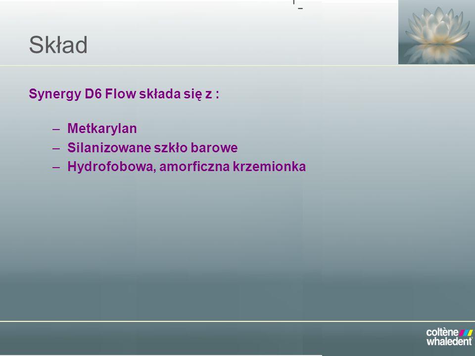 Skład Synergy D6 Flow składa się z : Metkarylan