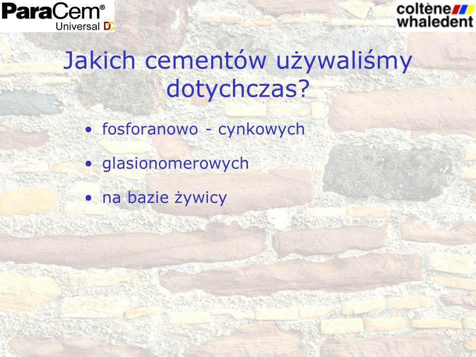 Jakich cementów używaliśmy dotychczas