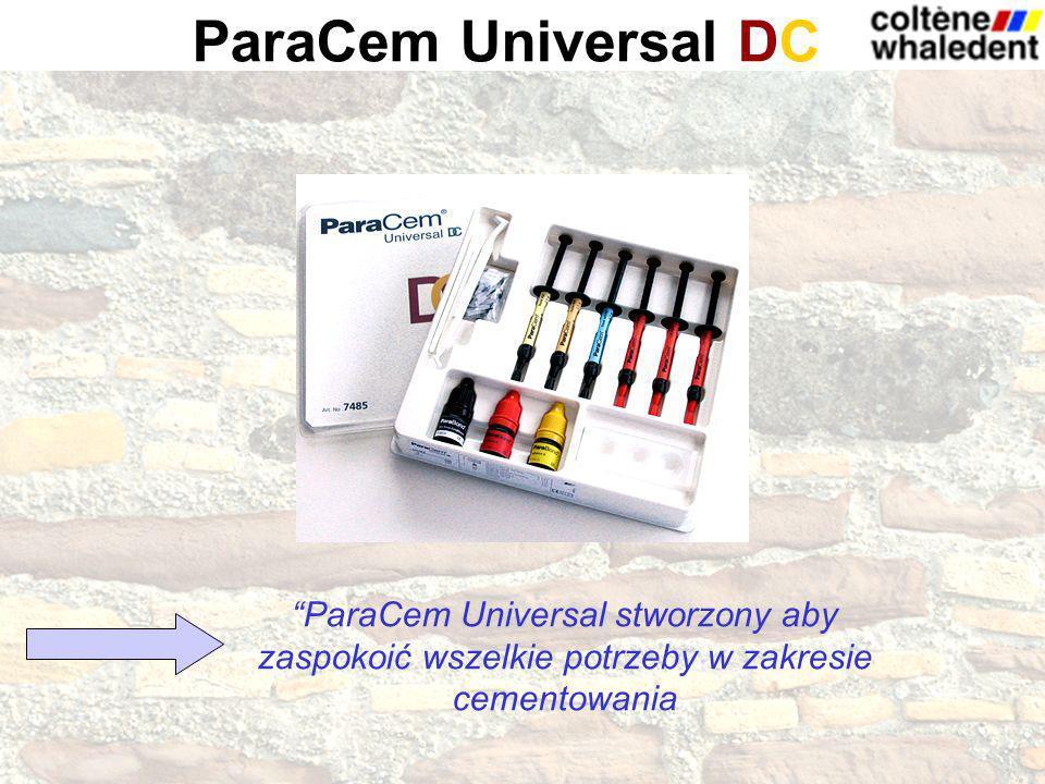 ParaCem Universal DC ParaCem Universal stworzony aby zaspokoić wszelkie potrzeby w zakresie cementowania.