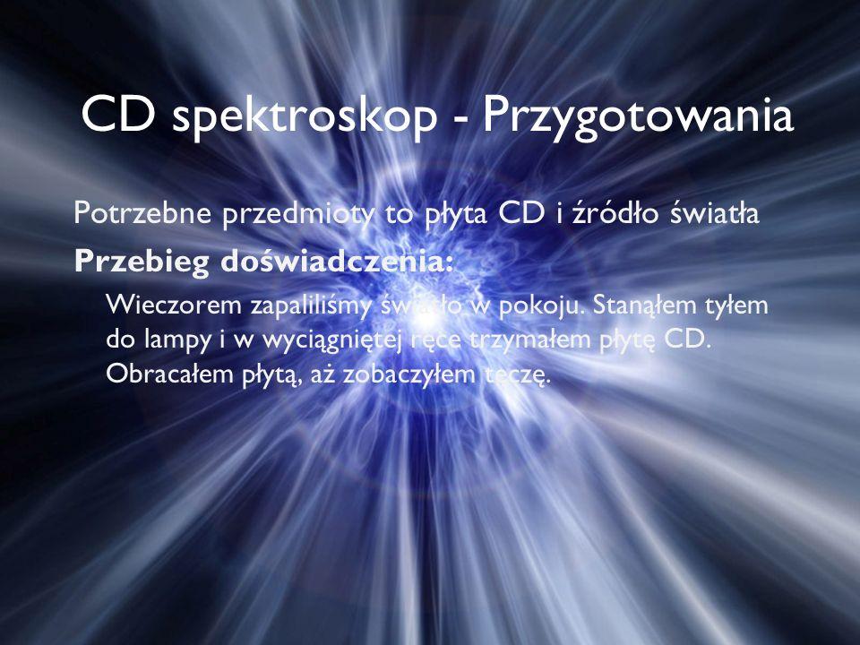 CD spektroskop - Przygotowania