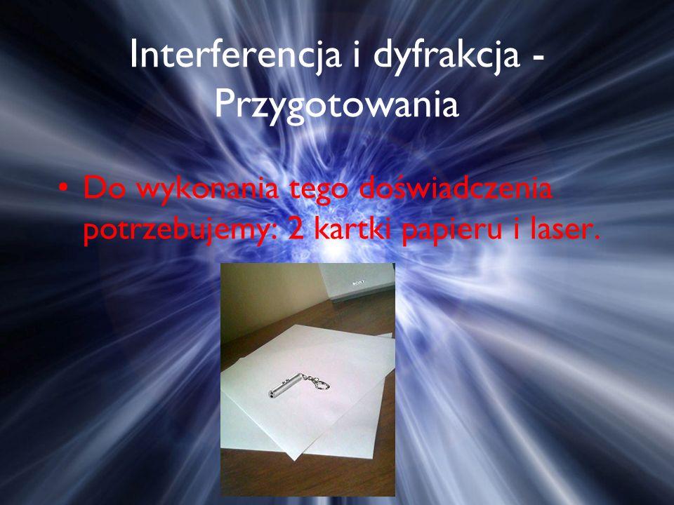 Interferencja i dyfrakcja - Przygotowania