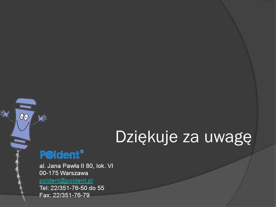Dziękuje za uwagę al. Jana Pawła II 80, lok. VI 00-175 Warszawa