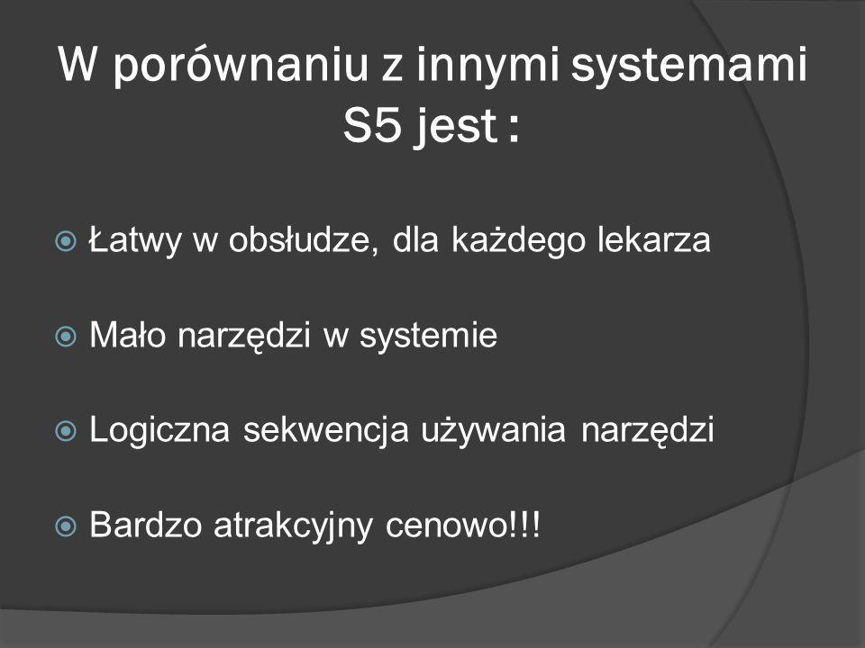 W porównaniu z innymi systemami S5 jest :