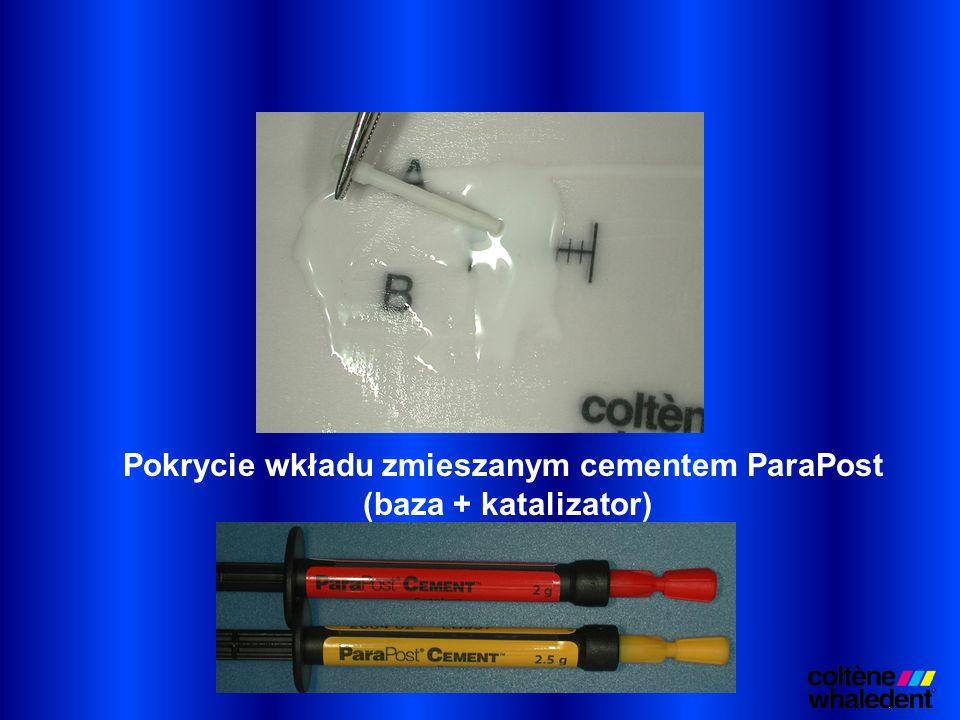 Pokrycie wkładu zmieszanym cementem ParaPost