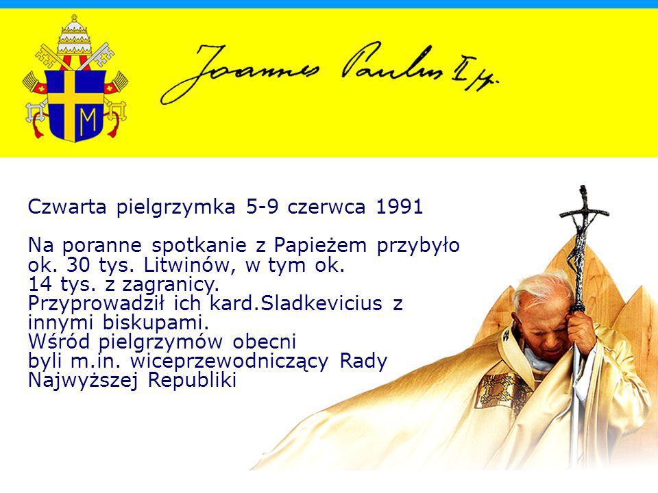 Czwarta pielgrzymka 5-9 czerwca 1991 Na poranne spotkanie z Papieżem przybyło ok.