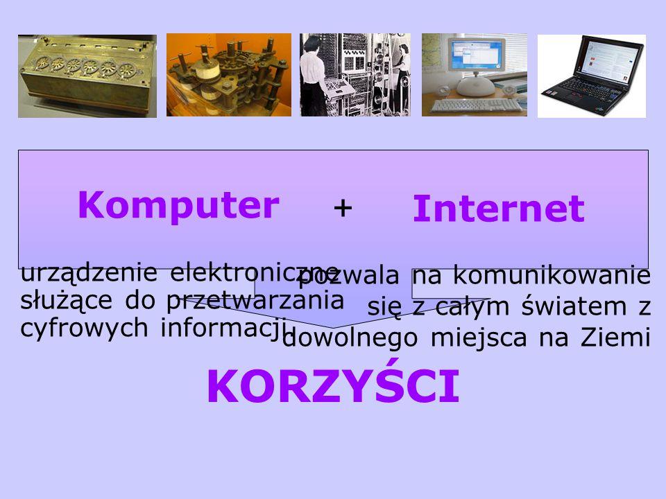 KORZYŚCI + Internet Komputer