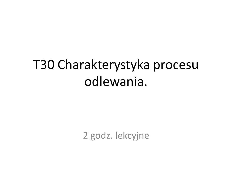 T30 Charakterystyka procesu odlewania.