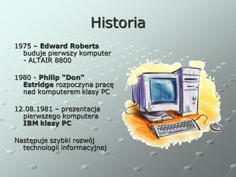 Historia 1975 – Edward Roberts buduje pierwszy komputer - ALTAIR 8800