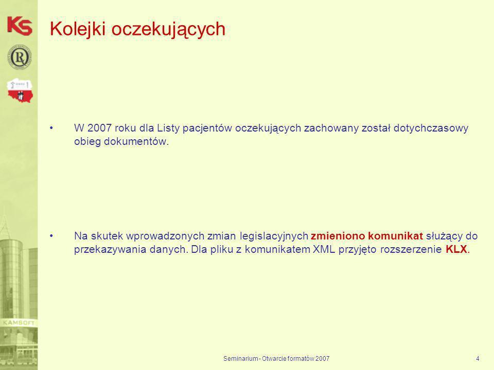 Seminarium - Otwarcie formatów 2007