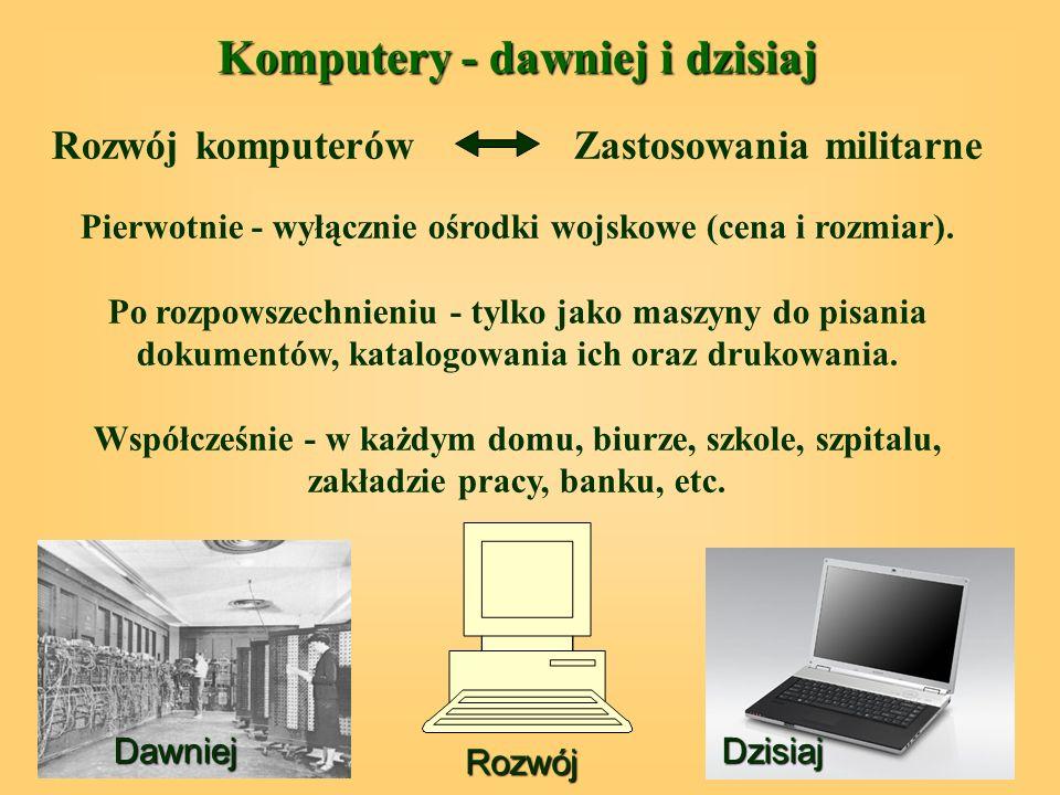 Komputery - dawniej i dzisiaj