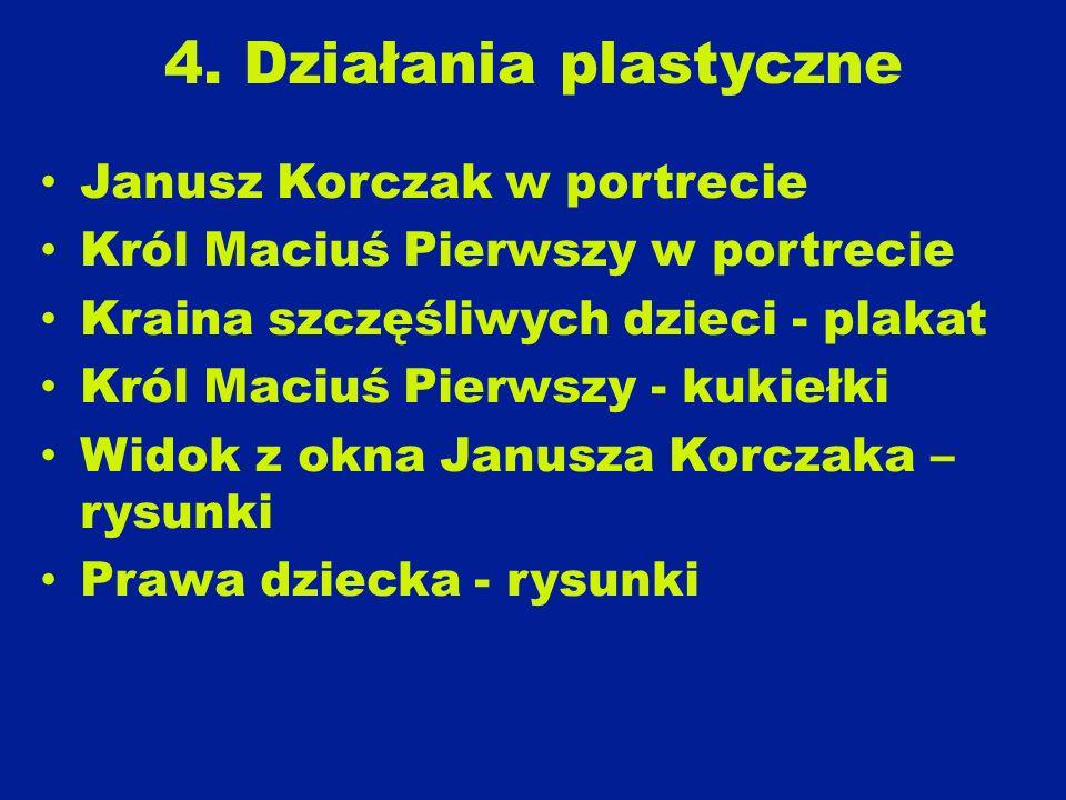 4. Działania plastyczne Janusz Korczak w portrecie
