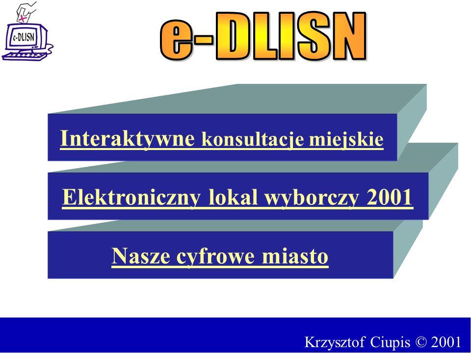 Interaktywne konsultacje miejskie Elektroniczny lokal wyborczy 2001