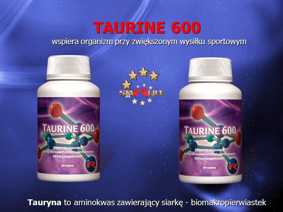 TAURINE 600 wspiera organizm przy zwiększonym wysiłku sportowym.