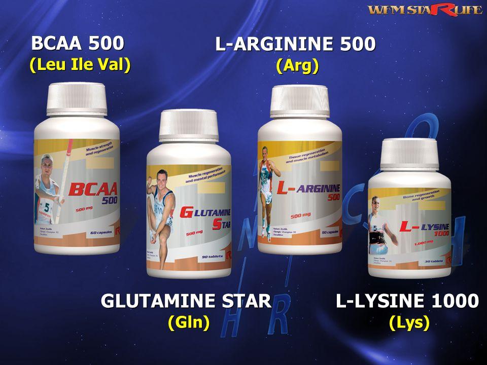 BCAA 500 L-ARGININE 500 GLUTAMINE STAR L-LYSINE 1000