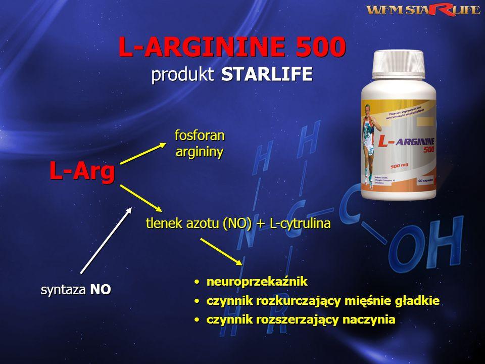 L-ARGININE 500 produkt STARLIFE
