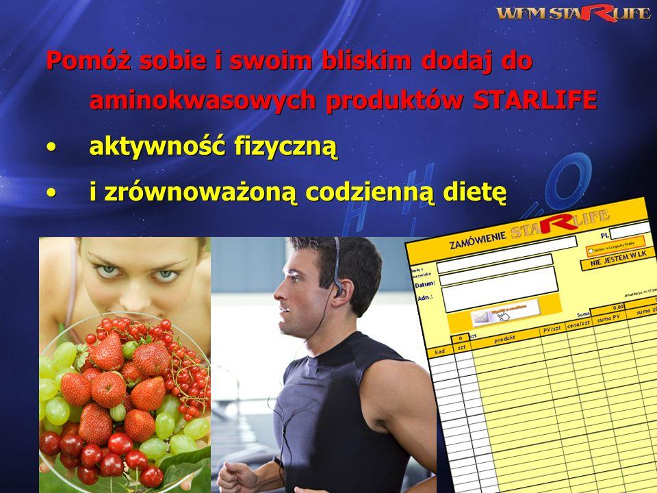 Pomóż sobie i swoim bliskim dodaj do aminokwasowych produktów STARLIFE