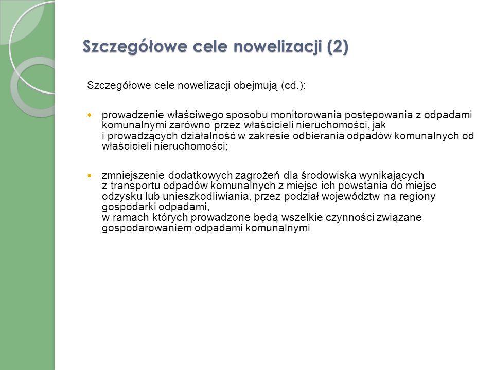 Szczegółowe cele nowelizacji (2)