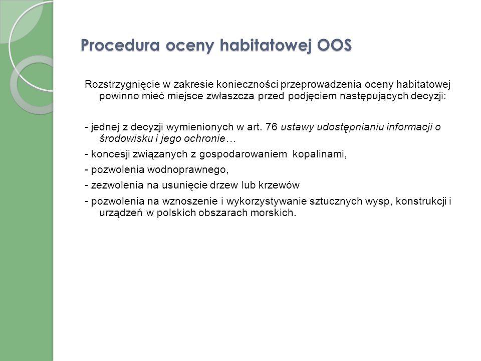 Procedura oceny habitatowej OOS