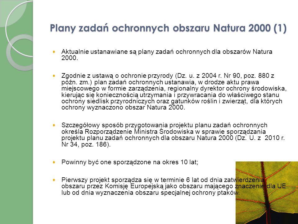 Plany zadań ochronnych obszaru Natura 2000 (1)