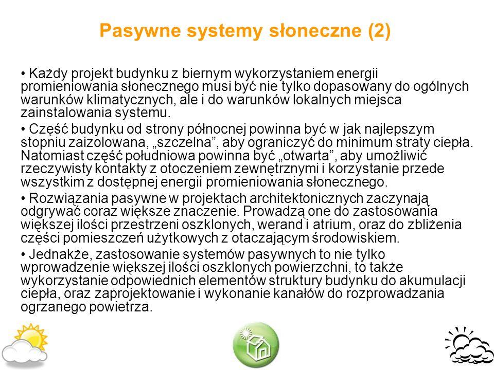 Pasywne systemy słoneczne (2)