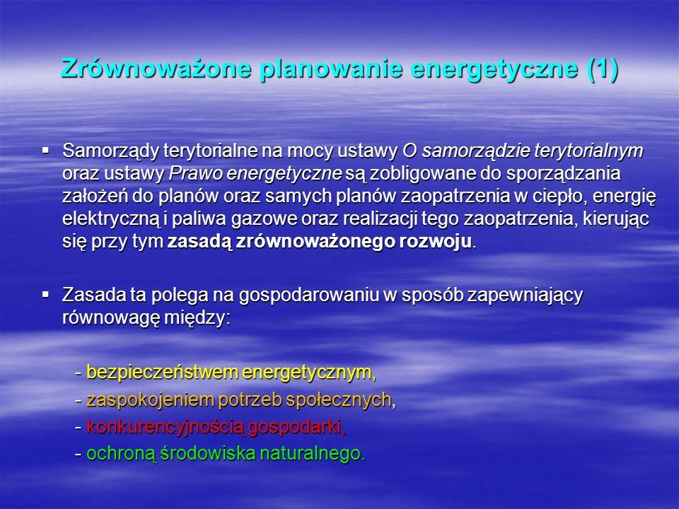 Zrównoważone planowanie energetyczne (1)