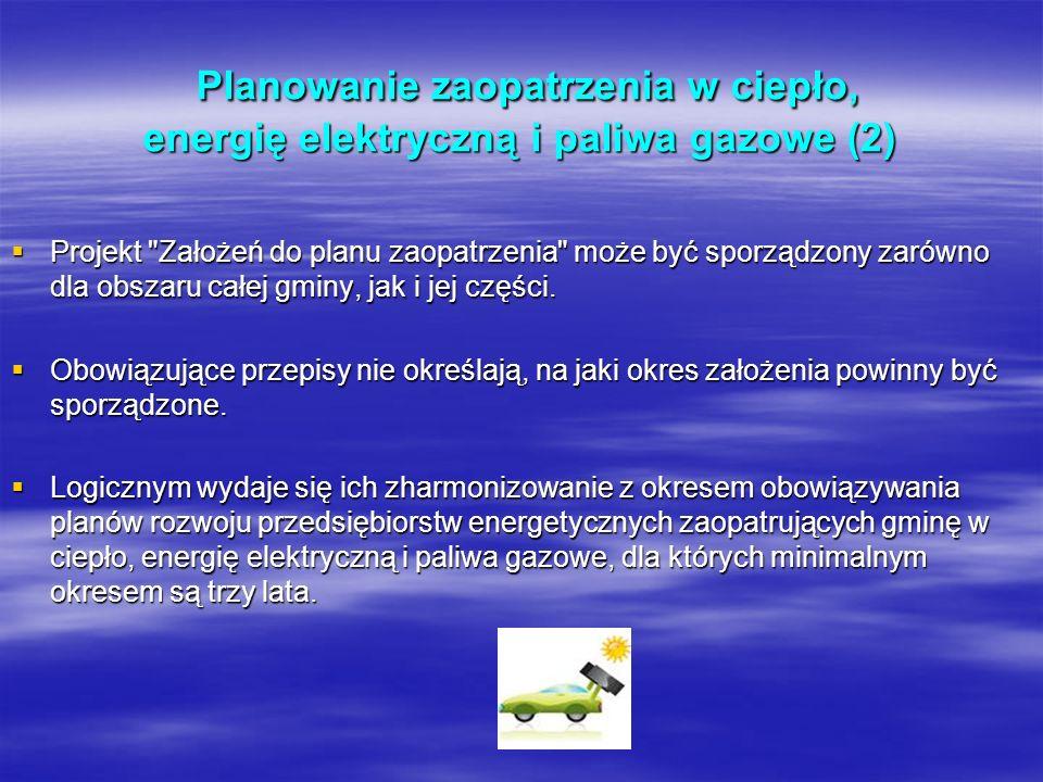 Planowanie zaopatrzenia w ciepło, energię elektryczną i paliwa gazowe (2)