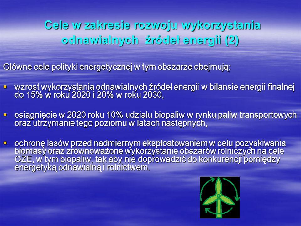 Cele w zakresie rozwoju wykorzystania odnawialnych źródeł energii (2)