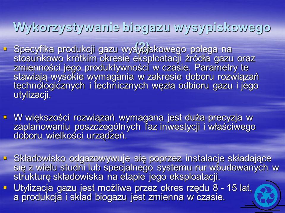 Wykorzystywanie biogazu wysypiskowego (2)