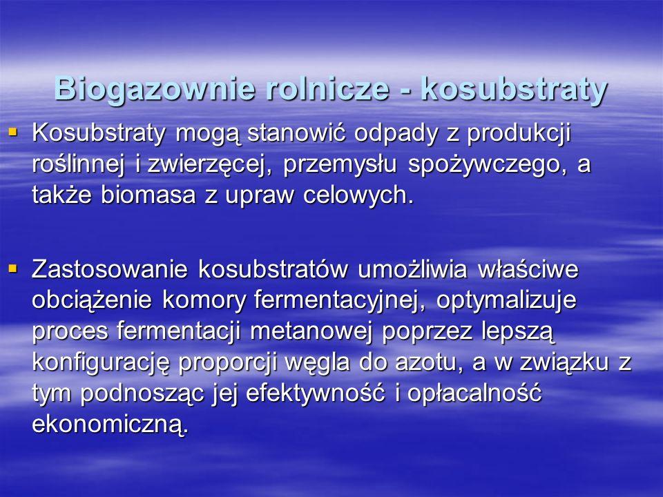 Biogazownie rolnicze - kosubstraty