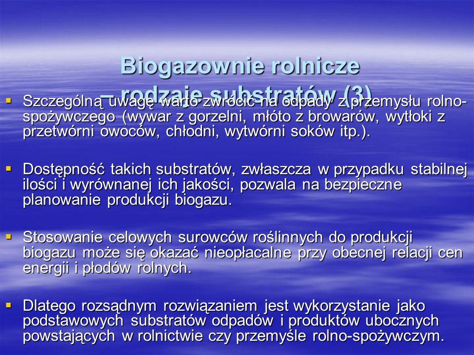 Biogazownie rolnicze – rodzaje substratów (3)