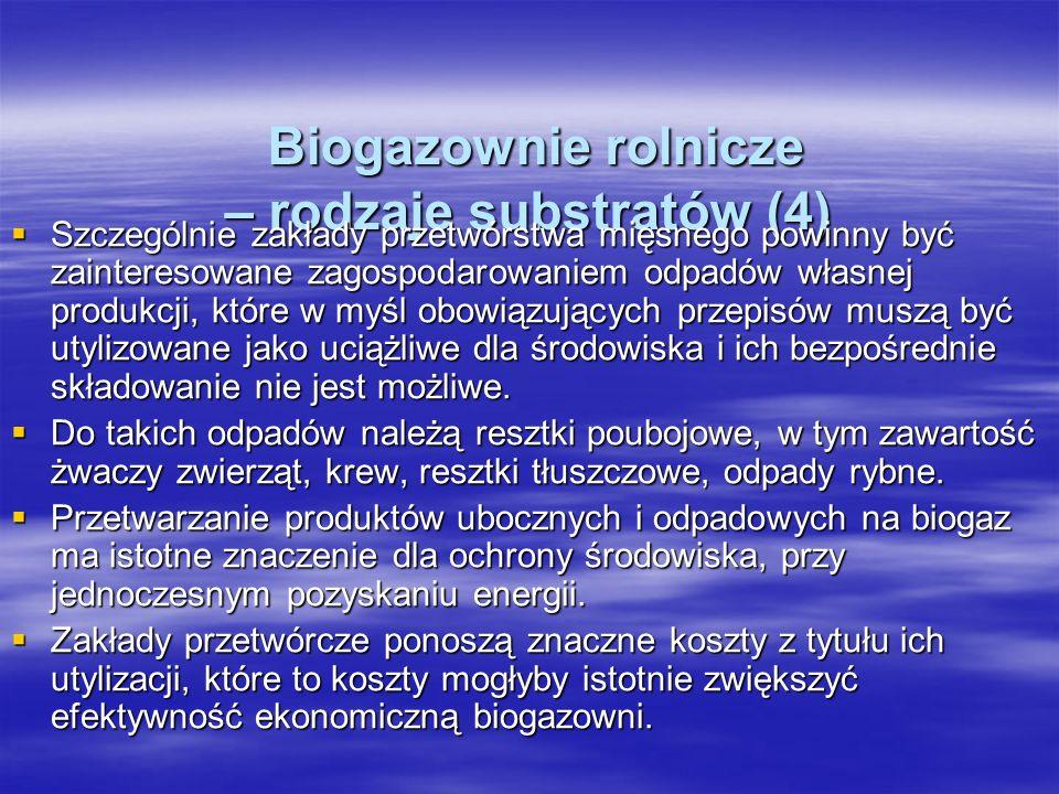 Biogazownie rolnicze – rodzaje substratów (4)