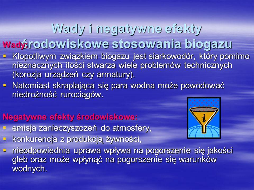 Wady i negatywne efekty środowiskowe stosowania biogazu
