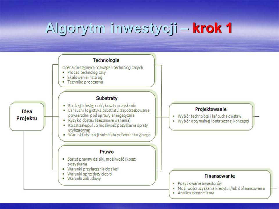 Algorytm inwestycji – krok 1