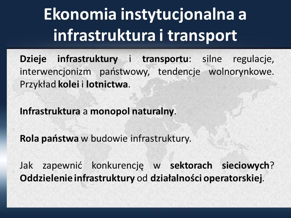 Ekonomia instytucjonalna a infrastruktura i transport