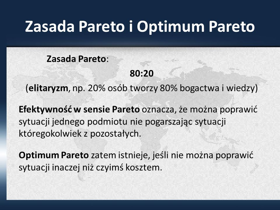 Zasada Pareto i Optimum Pareto