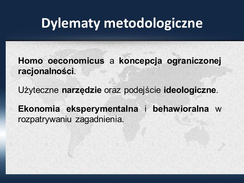 Dylematy metodologiczne