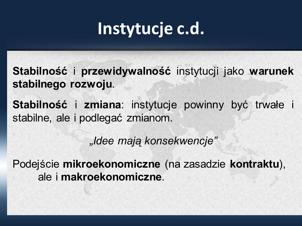 Instytucje c.d.