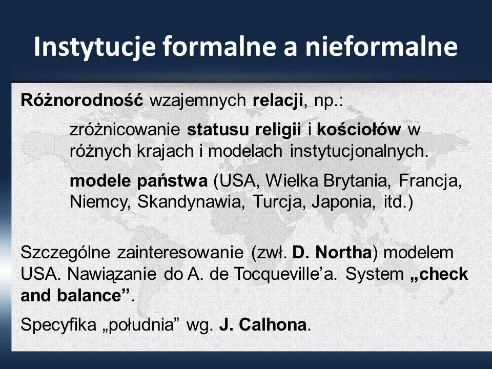Instytucje formalne a nieformalne