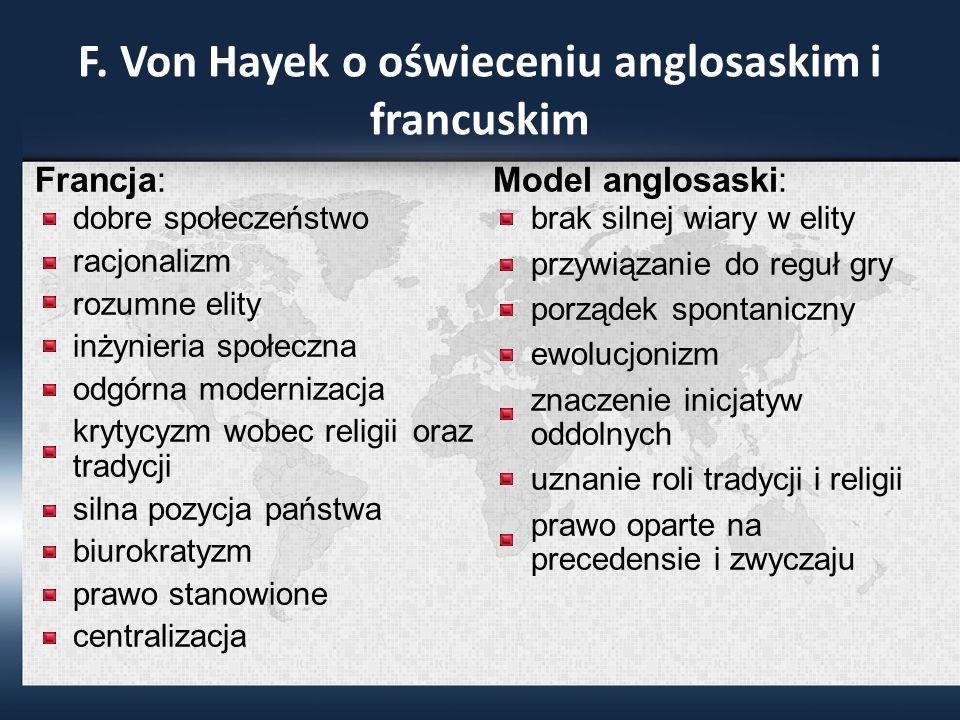 F. Von Hayek o oświeceniu anglosaskim i francuskim