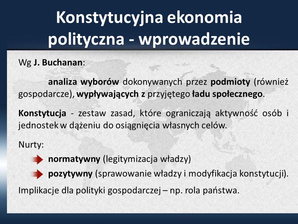 Konstytucyjna ekonomia polityczna - wprowadzenie