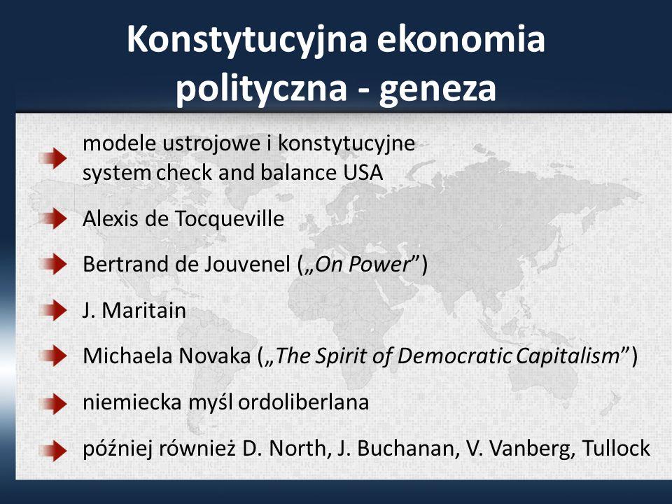 Konstytucyjna ekonomia polityczna - geneza