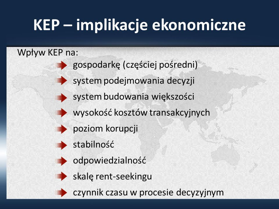 KEP – implikacje ekonomiczne