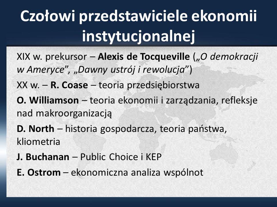 Czołowi przedstawiciele ekonomii instytucjonalnej