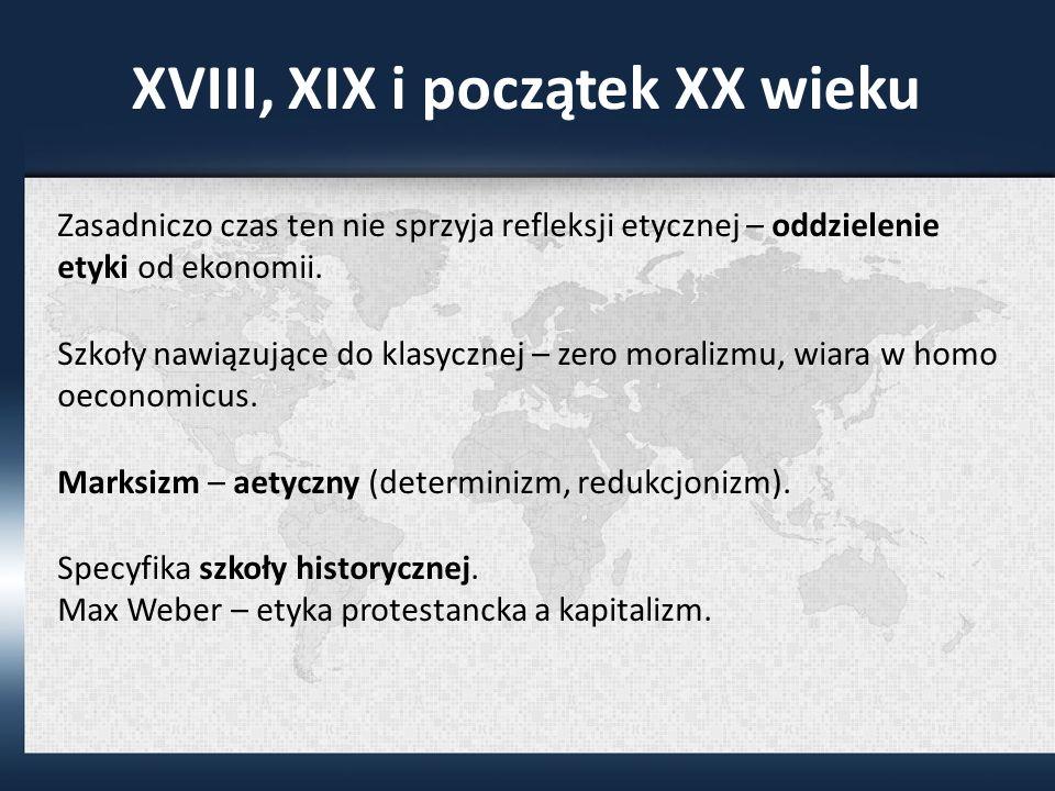 XVIII, XIX i początek XX wieku